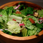 Perky 3-P salad: Pomegranate, Pecans, and Onion?