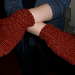 Quickly-knit mitt
