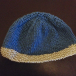 Basic Contrast Brim Knit Baby Hat